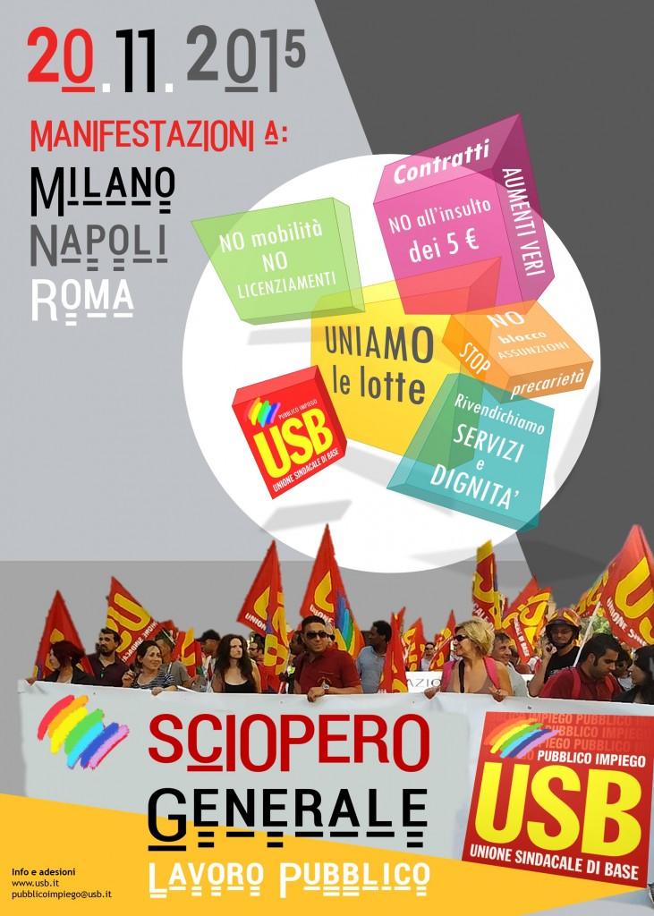 sciopero 20 novembre